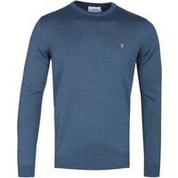 Farah Crew Neck Blue Marl Woollen Sweater