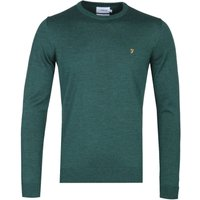 Farah Crew Neck Bright Emerald Marl Woollen Sweater