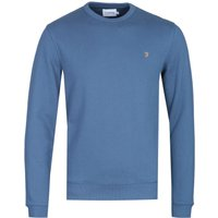 Farah Tim Cold Metal Blue Crew Neck Sweatshirt