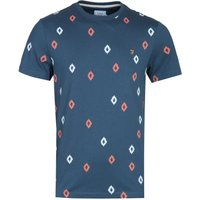 Farah Chaffee Diamond Print Navy T-Shirt