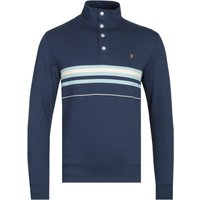Farah-Segundo-Funnel-Neck-Yale-Blue-Striped-Sweatshirt
