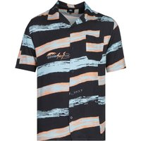 Edwin Short Sleeve Okinawa Surf Club Black Resort Shirt