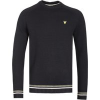 Lyle & Scott Multi Colour Rib True Black Knitted Sweater