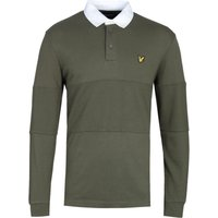 Lyle & Scott Long Sleeve Olive Rugby Polo Shirt