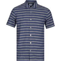 PS Paul Smith Casual Fit Grey & Navy Striped Shirt