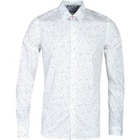 PS Paul Smith Tailored Fit Dotted Floral Print White Shirt
