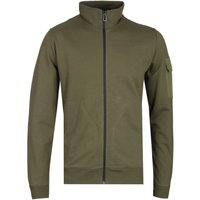 PS Paul Smith Military Green Zip-Through Utility Sweatshirt
