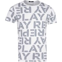 Replay Block Letter Logo Grey T-Shirt