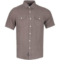 Replay Regular Fit Brown Chest Pocket Short Sleeve Shirt