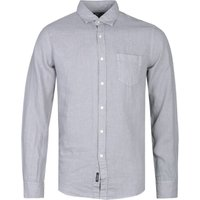 Replay Regular Fit Light Grey Linen Shirt