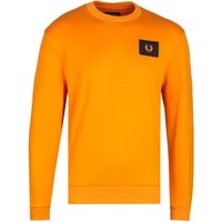 Fred Perry Acid Brights Fire Orange Sweatshirt