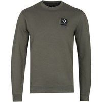 MA.Strum Training Dark Khaki Green Crew Neck Sweatshirt
