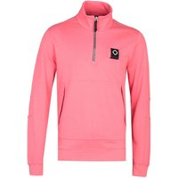 MA.Strum Dark Cayenne Red Zip Neck Training Sweatshirt