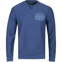 Barbour International Garment Dyed Navy Sweatshirt