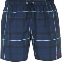 Barbour Tartan Navy Blue Swim Shorts