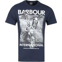 Barbour International Archive Graphic Navy T-Shirt