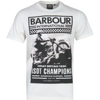 Barbour International Archive Graphic White T-Shirt