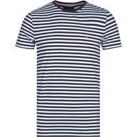 Tommy Hilfiger Stretch Slim Fit Black & White Stripe T-Shirt