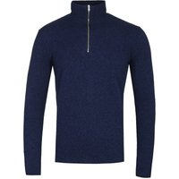 Norse Projects Fjord Zip Neck Dark Navy Sweater