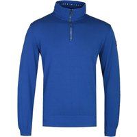 Paul & Shark Cobalt Blue Zip Neck Sweater