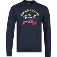 Paul & Shark Large Logo Navy Crew Neck Sweatshirt