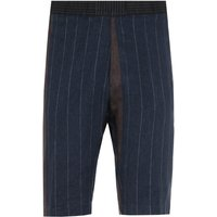 Barena Navy & Brown Contrast Stripe Argo Shorts