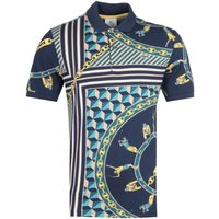 Lacoste LIVE All-Over Graphic Scarf Print Polo Shirt