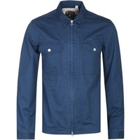 Pretty Green Zip Front Navy Overshirt