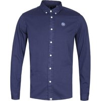 Pretty Green Classic Fit Navy Edward Shirt