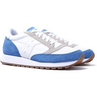 Saucony Jazz Vintage White & Blue Suede Trainers
