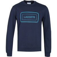 Lacoste Box Logo Navy Sweatshirt