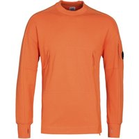 CP Company Zip Pocket Orange Crew Neck Sweatshirt