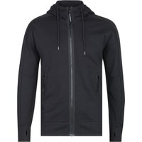 CP Company Zip-Through Black Goggle Hoodie