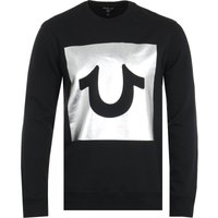 True Religion Foil Box Black Crew Neck Sweatshirt