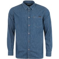 Nudie Jeans Co Albert Denim Shirt - Mid Worn Blue
