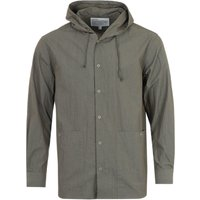 Uniform Bridge Hooded Pocket Overshirt - Khaki