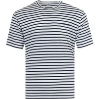 NN07 Kurt Stripe Sustainable Tencel Blend T-Shirt - Navy