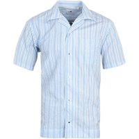 NN07 Oliver Stripe Short Sleeve Shirt - Blue