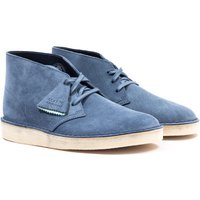 Clarks Originals Suede Desert Coal Boots - Blue