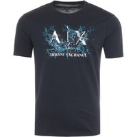 Armani Exchange AX Water Print T-Shirt - Navy