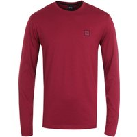 BOSS Tacks Logo Badge Long Sleeve T-Shirt - Red