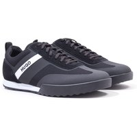 HUGO Matrix Low Top Mesh & Suede Trainers - Black