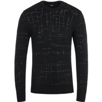 BOSS Dimondo Knitted Crew Neck Black Sweater