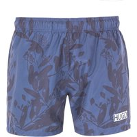 HUGO Kohama Sustainable Logo Navy Swim Shorts