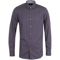BOSS Lukas Rectangle Pattern Shirt - Navy