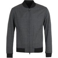 BOSS Seersucker Slim Fit Dark Grey Bomber Jacket