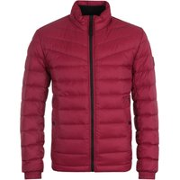 BOSS Water Repellent Lightweight Slim Fit Burgundy Down Jacket
