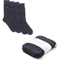 BOSS Bodywear 2 Pack Solid Black Sock Gift Bag