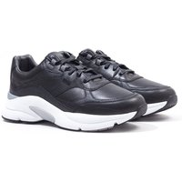 BOSS Ardical Leather Black Running Trainers