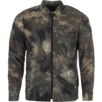 BOSS Lovel Nylon Oversized Fit Zip Overshirt - Camo
